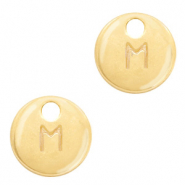 Metal charms initial M Gold (nickel free)