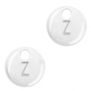 Metal charms initial Z Antique Silver (nickel free)