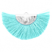 Tassels charm Turquoise Blue-Silver