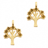 Metal charms tree Gold (nickel free)