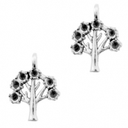 Metal charms tree Antique Silver (nickel free)