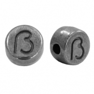 DQ European metal letter beads ß Gunmetal (nickel free)