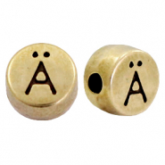 DQ European metal letter beads Ä Antique Bronze (nickel free)