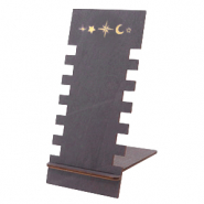 "Jewellery display wood ""Moon & Star"" Black"