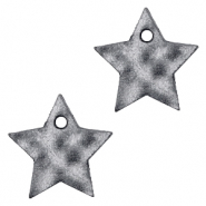 DQ European leather charms star Black Antracite