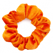 Scrunchie velvet hair tie Persimmon Orange