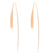 DQ European metal findings earrings Rose Gold (nickel free)