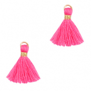 Tassels 1.5cm Gold-Hot Pink