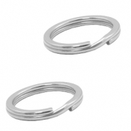 Stainless Steel findings keychain ring 20mm Silver