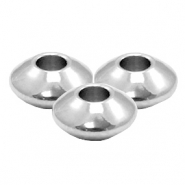 Stainless Steel findings beads disc 6x3mm (Ø2.4mm) Silver