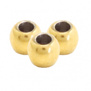 Stainless steel findings round beads 3mm Gold
