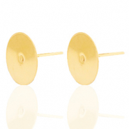 Stainless steel findings earrings for 12mm cabochon Gold