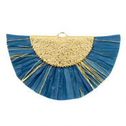Tassels charm Gold-Blue Heaven