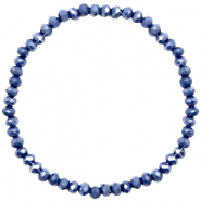 Top faceted bracelets 4x3mm Crown Blue-Pearl Shine Coating