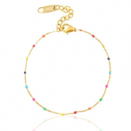 Stainless steel bracelets rainbow Gold