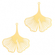 Bohemian charms Ginkgo leaf Gold (nickel free)