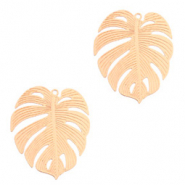 Bohemian charms tropical leaf Rose Gold (nickel free)