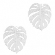 Bohemian charms tropical leaf Silver (nickel free)