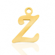 Stainless steel charms initial Z Gold