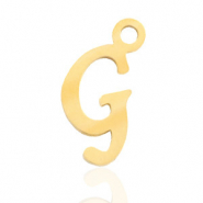 Stainless steel charms initial G Gold
