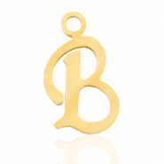 Stainless steel charms initial B Gold