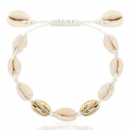 Anklets Cowrie Off White-Gold