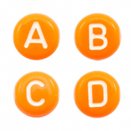 Acrylic letter beads mix Orange