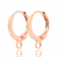 Earrings closable 1 loop 12mm Rose Gold