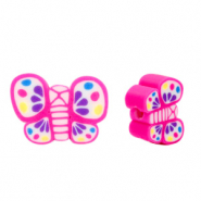 Polymer beads butterfly Pink