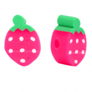 Polymer beads pink strawberry Pink-Green