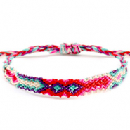Ready-made Bracelets/Anklets Brazilian style| One size fits all| Economy pack Multicolour Pink-Blue