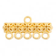 DQ European metal charms bar with 5 loops Gold (nickel free)