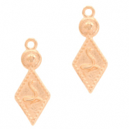 DQ European metal charms boho snake Rose Gold (nickel free)