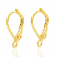 Findings TQ metal earrings closable Gold