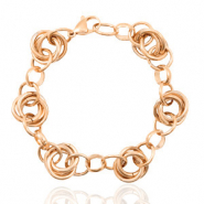 Stainless steel bracelets link Rose Gold