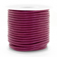 DQ leather round 3 mm Aubergine Purple