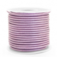 Benefit package DQ leather round 3 mm Lilac Purple Metallic