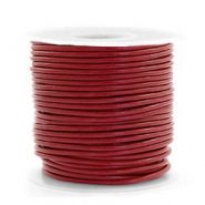 DQ leather round 1 mm Carmine Red