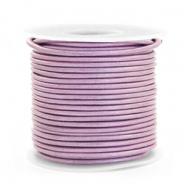 Benefit package DQ leather round 1 mm Lilac Purple Metallic