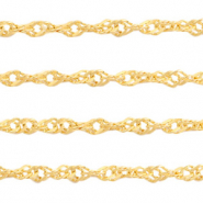 Stainless Steel findings weave belcher chain 1.8mm Gold