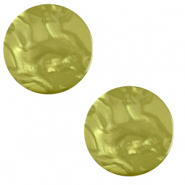 12 mm flat Polaris Elements cabochon Lively Origano green