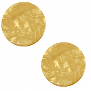 12 mm flat Polaris Elements cabochon Lively Curry Yellow