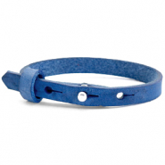 Cuoio bracelets leather 8mm for 12mm cabochon Victoria Blue
