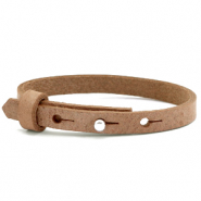 Cuoio bracelets leather 8mm for 12mm cabochon Toasted Nut Brown