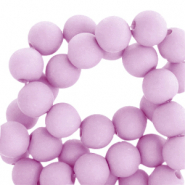 4 mm acrylic beads matt Orchid Bloom Lilac