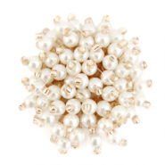 Clustered bead ornament Off White