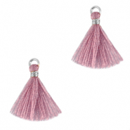 Tassels 1.5cm Silver-Light Mauve Purple