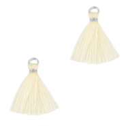 Tassels 1.5cm Silver-Almond Oil White