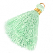 Tassels 6cm Limited edition Light Mint Green-Warmgold