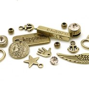 DQ European metal beads and charms DQ European metal beads antique bronze